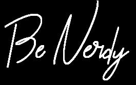 unterschrift Be Nerdy